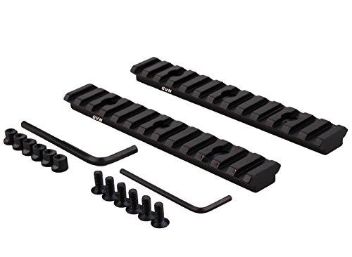 Keymod Picatinny Rail Section 52 Inch13 Slot PicatinnyWeaver Rail 2 Pieces Matte black