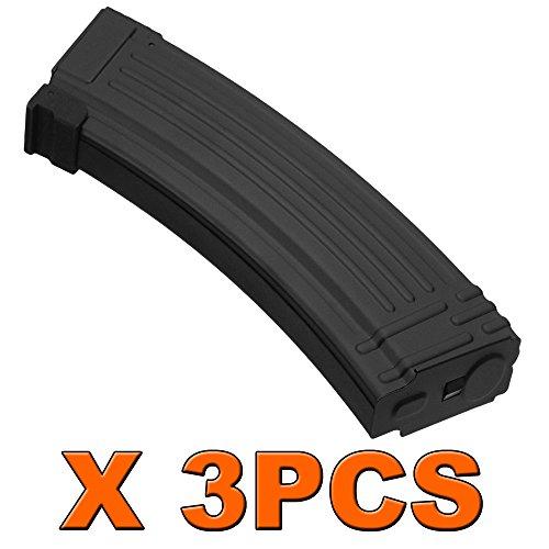 3PCS X AK 140rds Metal Mid-Cap Magazine for Airsoft Marui AK74 AK47 AK series AEG For Airsoft Only