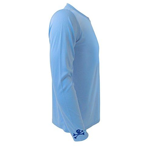Wrist Logo Performance UPF 50 Quick Dry Mens Long Sleeve Fishing Shirt