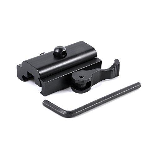Calitte QD Quick Detach Cam Lock Bipod Adapter Mount for Picatinny Weaver Rail