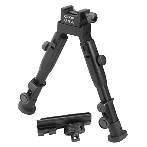 CCOP USA 6 inch Tactical Hunting Rifle Picatinny Swivel Stud Mount Bipod - BP-59MINI