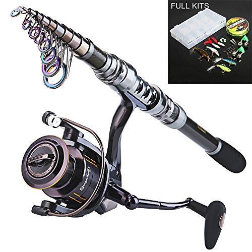 Sougayilang Telescopic Fishing Rod and Fishing Reel Combo Kits 27m886ftWQ4000FULL KITS