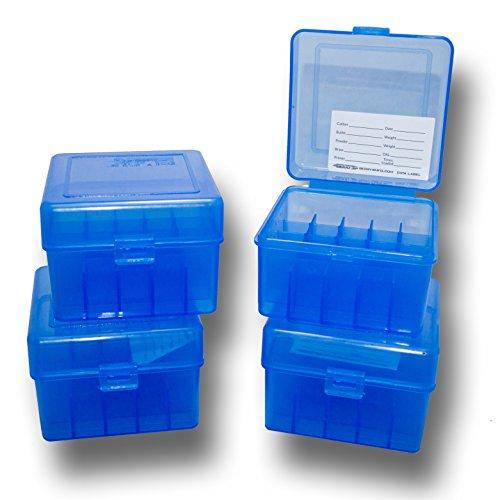 Berrys 4 pack Ammo box 20 gauge 25 round shell holder Ammunition storage case blue