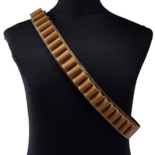 Tan 25 shotgun shell Bandolier and Belt for 12 gauge shellsbullets