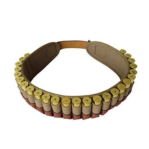 Tourbon 20 Gauge Shotshell Bandolier Cartridge Ammo Carrier Ammunition Belt - Canvas and Leather