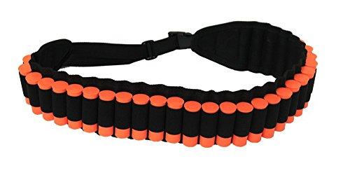 Ultimate Arms Gear 30 Loop Web Belt Shot 1220 GA Shell Ammo Reload Elastic Carrier Holder For All 12 and 20 Gauge Shotgun Hunting Shot-Shell Rounds Black Adjustable Length For Beretta Shotgun