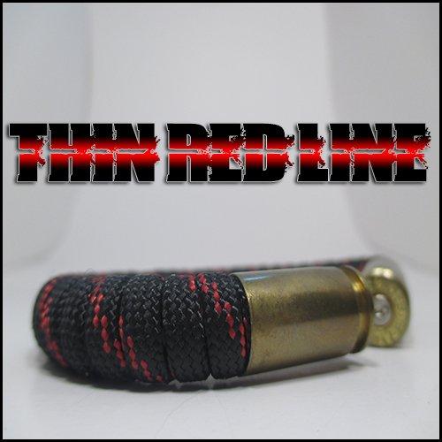 Thin Red Line Paracord 40 Caliber Bullet Casing Bracelet