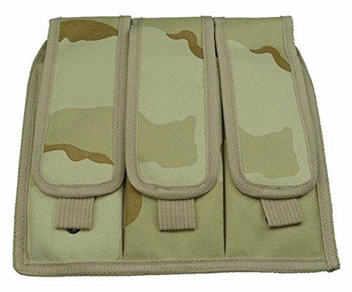 Ultimate Arms Gear Desert Camouflage Triple Drop Leg Magazine Pouch For Springfield Armory M1A M1-A GarandCarbine Socom Rifle