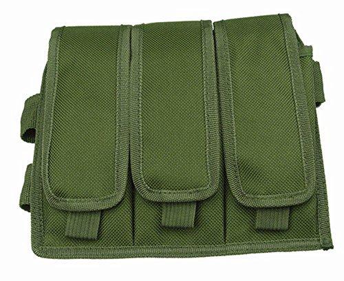 Ultimate Arms Gear OD Olive Drab Green Triple Drop Leg Magazine Pouch For AK47 AK-47 AK74 762X39
