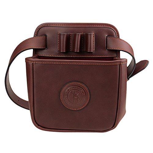 Tourbon Leather Waist Rifle Ammo Bag Shotgun Shell Holder Cartridge Pouch Hold 12 Gauge 16 Gauge 20 Gauge