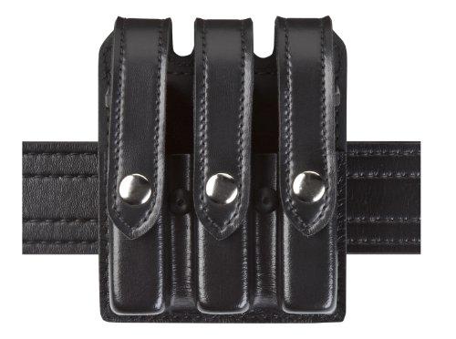 Safariland Duty Gear Glock 17 22 34 35 Flat Top Slimline Triple Magazine Pouch Stx High Gloss Brass Snap