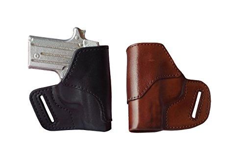 J&J CUSTOM FIT SMITH WESSON S&W M&P BODYGUARD 380 OWB Belt Carry Formed Premium Leather Holster BLACK LEFT