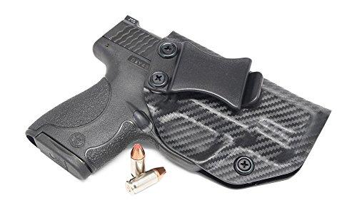 Concealment Express Carbon Fiber Black KYDEX IWB Gun Holster - Custom Molded Fit - US Made - Inside Waistband Concealed Carry Holster - Adj Cant Retention
