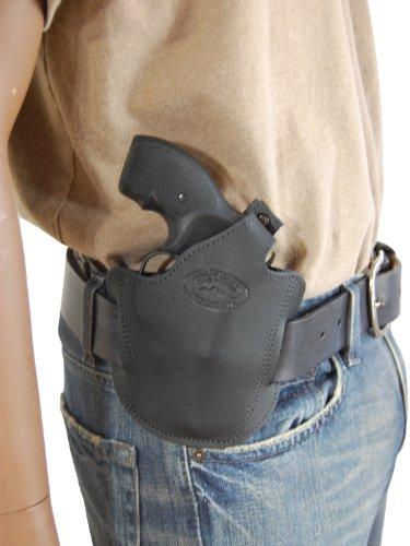 New Barsony Black Leather Pancake Holster for 2 22 38 357 Revolvers