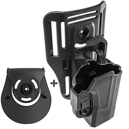 Orpaz 1911 Low-Ride Belt Vest Level 2 Gun Holster Thumb Release 360 Rotation Tension Adjustment