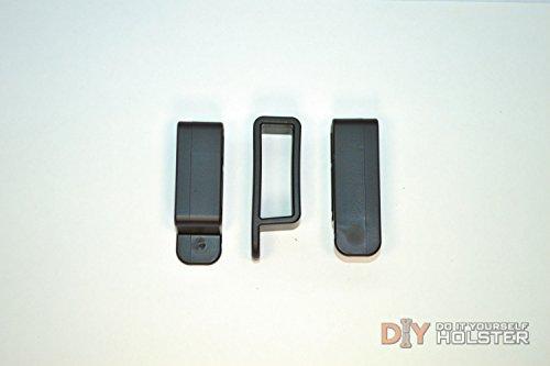 DIY Kydex Holster Belt Loops 2 Inch Belts Black - 2 Pack