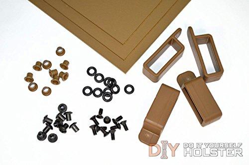 Kydex Boltaron Holster DIY Kit w OWB Belt Loops 15 Belts Coyote Brown