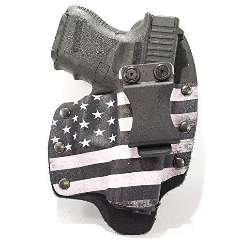 USA Black White IWB Hybrid Concealed Carry Holster Right-Hand Glock 17192223252627283132343541