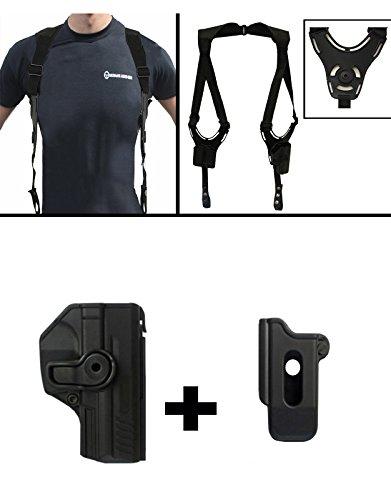 IMI Defense ZSP08 Single Mag Pouch  Z1385 360 Rotate Holster H&K HK Heckler Koch VP9  SFP9 9mm Black  Ultimate Arms Gear Tactical Shoulder Holster Rig Harness System