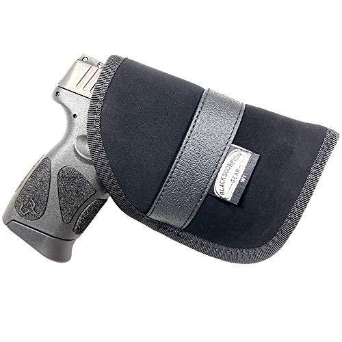 Black Scorpion Gear Concealed Carry Ambidextrous Handgun Pocket Holster 4 x 6  fits Most 6 Subcompact Handguns S&W MP Shield Glock 26272930334243 Springfield XDS and Similar Handguns