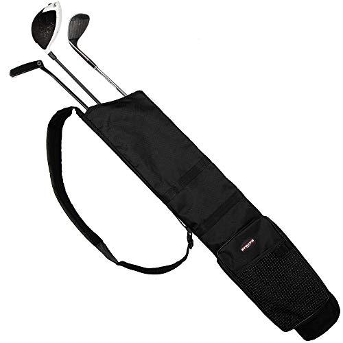 Stripe Golf Sunday Lightweight Travel Carry Golf Bag  Golf Club Sunday Carry Bag with Shoulder Strap and Multiple Storage Pockets