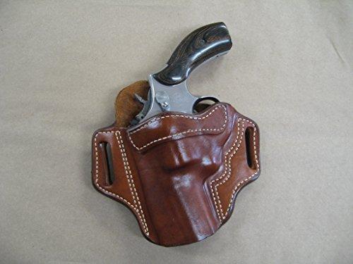 Ruger GP100 Revolver 3 Barrel Leather 2 Slot Pancake Belt Holster TAN CCW LH