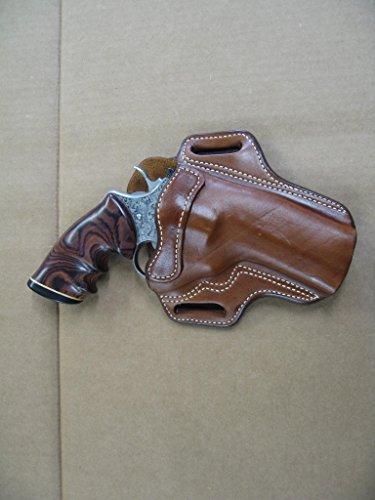 Ruger GP100 Revolver 4 Barrel Leather 2 Slot Pancake Belt Holster TAN CCW RH