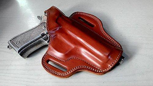 Cal38B9M Beretta M9 Leather Belt Custom Holster Tan Black TAN