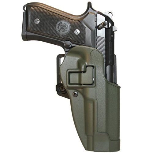 BLACKHAWK Serpa CQC Carbon Fiber Olive Drab Holster Matte Finish Size 04 Left Hand Beretta 9296not EliteBrigor M9A1