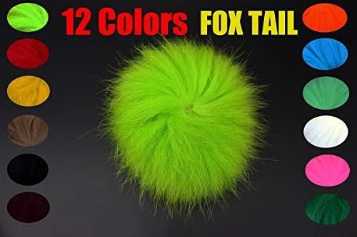 Tigofly 12 Colors Natural Fox Tail Hair Arctic Fox Polar Tail Salmon Trout Streamer Hair Wing Tube Fly Fishing Tying Materials