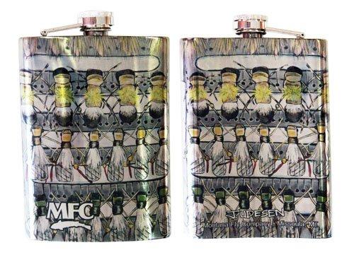 MFC Udesen Stainless Steel Hip Flask Hopper Fly Box