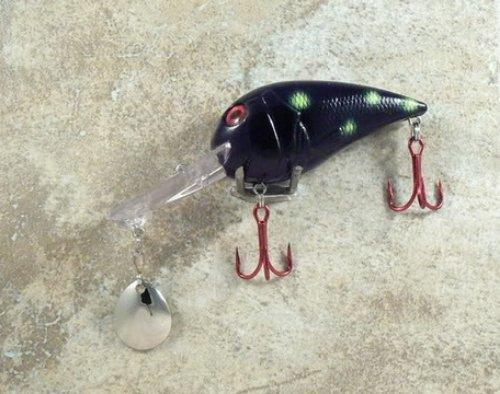 JLVLures Deep Crankbait Black Salamander  Diver Lures JLV Freshwater Smallmouth Steelhead Pike Salmon Trout