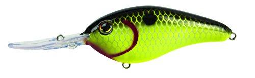 Strike King Pro-Model 6XD Deep Diving Freshwater Crankbait Black Back Chartreuse