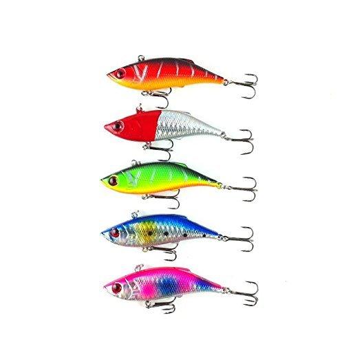 "orurudo fishing japan Lure Set Set Of 5 275"" 7 Cm 035 Oz 10 G Vibration B Ideal For Sea Bass And Black Bass Fishing Qb100009A01"