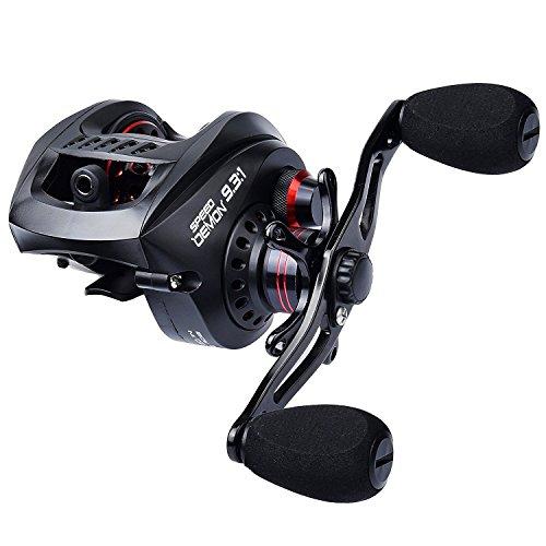 KastKing Speed Demon 931 Baitcasting Fishing Reel – World's Fastest Baitcaster – 121 Shielded Ball Bearings – Carbon Fiber Drag – Affordable - New for 2017 Left Handed