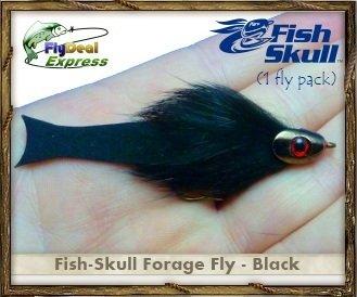 FISH-SKULL FORAGE FLY BLACK - Streamer 1-fly