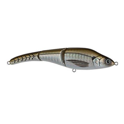 Sebile MS-125-SK-GGE Magic Swimmer Crank Bait 5 34ozDives Wake to 2 12 feet Floating 10 Treble Hooks Golden Google Eye