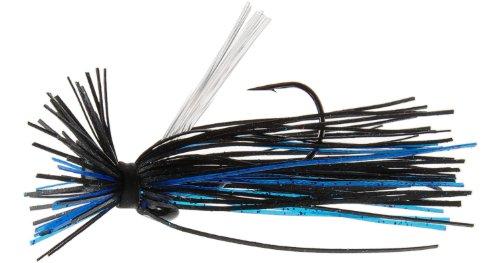 Megastrike Evolution 2 Finesse Jig Pack of 2 516-Ounce Black Head Black Blue Skirt