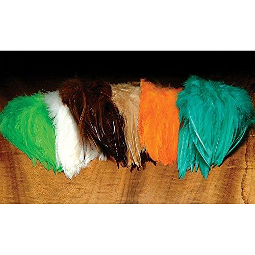 Hareline Dyed Strung Chinese Saddle Hackle Whitlocks Turquoise Whitlocks Turquoise