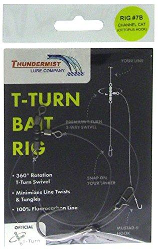 Thundermist Lure Company RIG7B T-Turn Rig Bait Clear