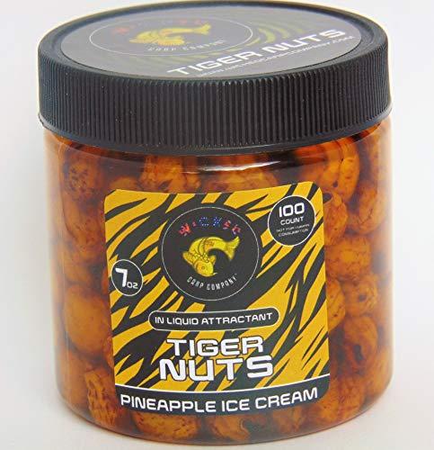 7oz ~100tub Pineapple Ice Cream Prepared Tiger Nuts in Liquid  PVA Friendly Carp Bait Catfish Bait