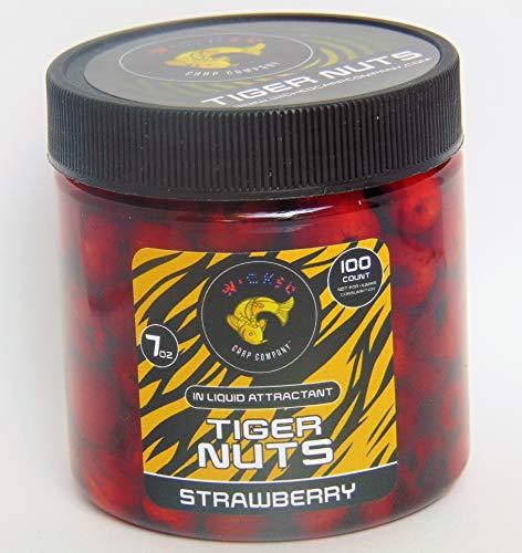 7oz ~100tub Strawberry Prepared Tiger Nuts in Liquid  PVA Friendly Carp Bait Catfish Bait
