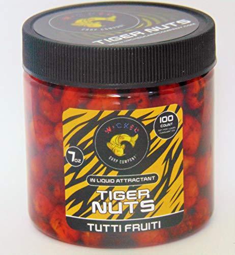 7oz ~100tub Tutti Frutti Prepared Tiger Nuts in Liquid  PVA Friendly Carp Bait Catfish Bait