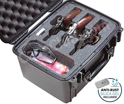 Case Club Waterproof 3 RevolverSemi-Auto Case with Silica Gel to Help Prevent Gun Rust