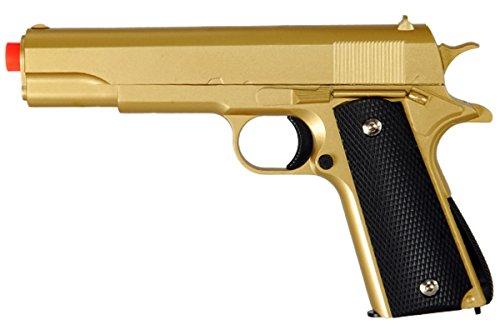 M1911 Replica Full Metal Two Tone Gold Black Airsoft Spring Pistol 6MM BB Gun