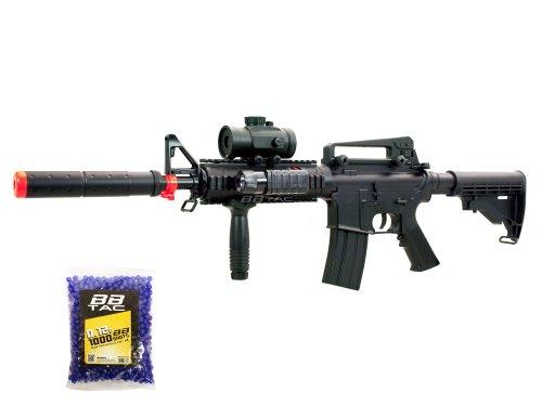 BBTac BT-M83 LPEG Full Auto Electric Power 250 FPS AEG Airsoft Gun with 1000 12g BBs 6mm Package
