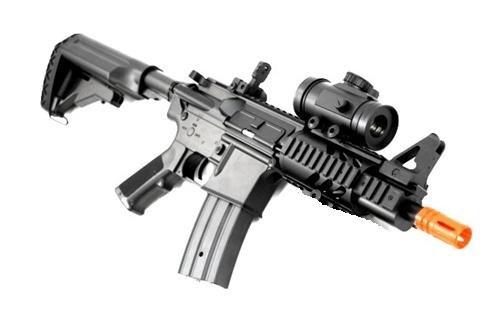BBTac Airsoft Gun CQB 315-FPS AEG M16M4 Style Airsoft Rifle with Red Dot Sight