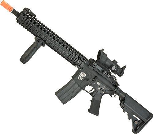Evike - G&P V5 Airsoft M4 AEG with 125 RIS Handguard - Black Package Gun Only