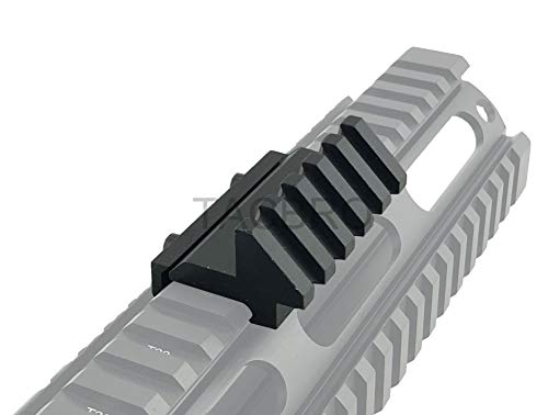 TACBRO 45 Degree Angle Offset 20mm Weaver Rail Mount Picatinny 5 Slot
