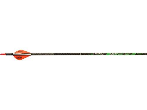 Victory Archery VAP TKO Gamer Arrows with Blazer Vanes 6 Pack Black 400